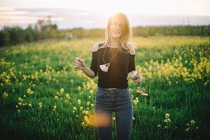happy sunny portrait