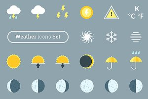 Big weather forecast icons pack