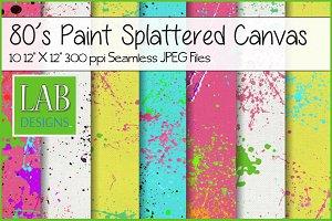 Neon Paint Splatter Seamless Texture