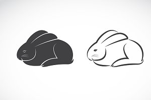 Vector image of an rabbit design
