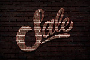 Brick Text Styles for Photoshop