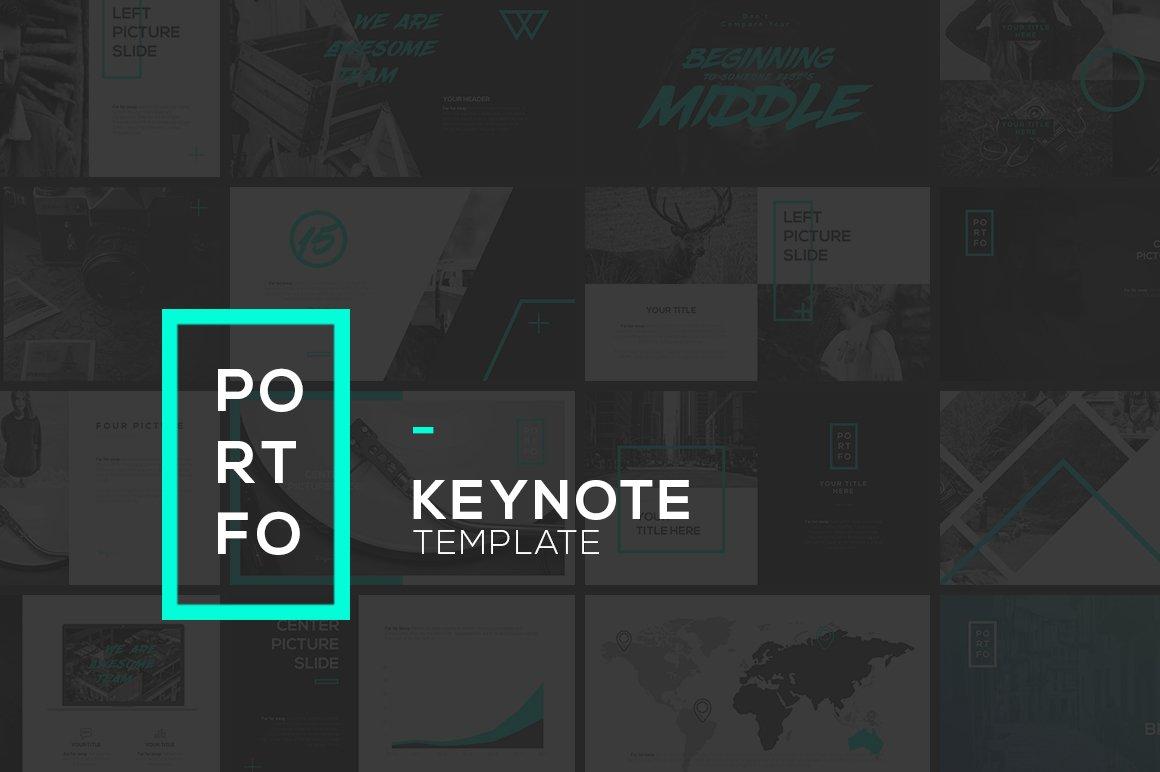 PORTFO Keynote Template ~ Presentation Templates ~ Creative Market