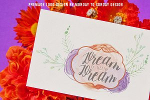 Premade Watercolor Logo