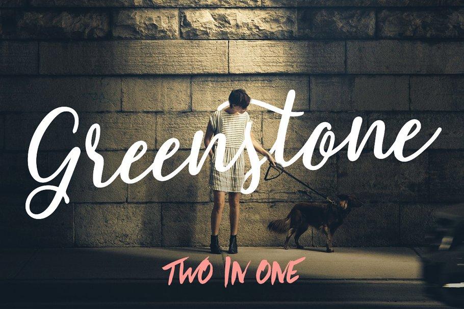 Greenstone Script (50% off)