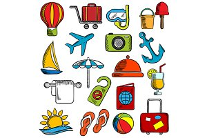 Travel, trip and leisure icons