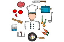 Chef profession with cook