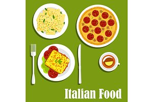Dishes of italian cuisine