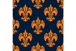 Seamless fleur-de-lis pattern