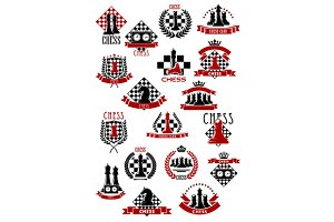 Chess game icons design