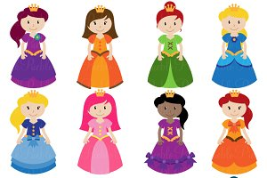 Princess Clipart and Vectors