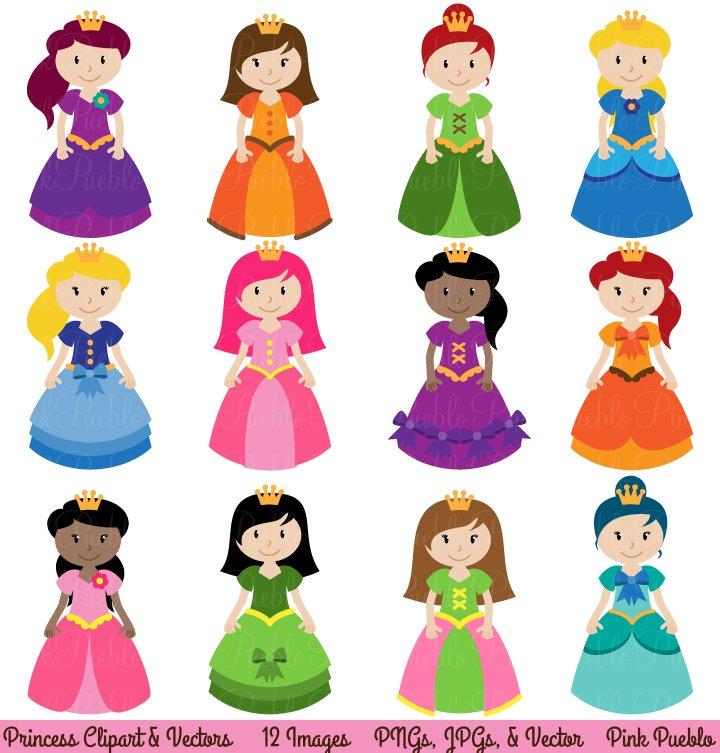 Princess Clipart and Vectors ~ Illustrations ~ Creative Market