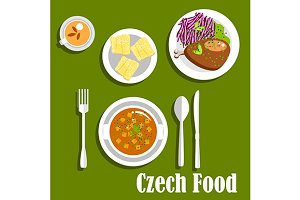 Czech cuisine lunch dishes