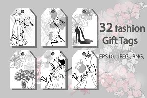 32  fashion Gift Tags