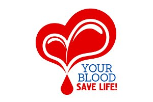 Blood donation symbol