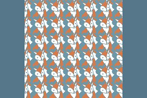 №118 Pattern with foxes