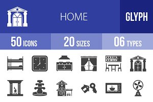 50 Home Glyph Icons