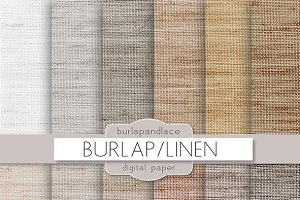 Burlap/linen natural digital paper