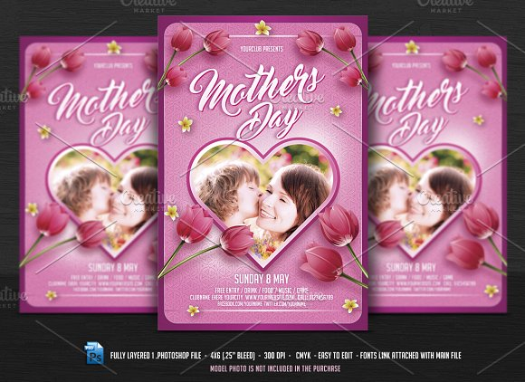 Mothers Day Flyer Flyer Templates Creative Market – Mothers Day Flyer