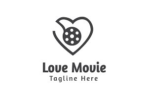 Love Movie Logo Template