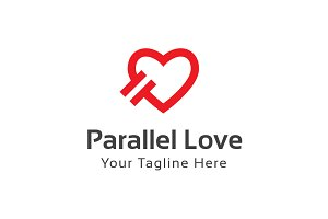Parallel Love Logo Template