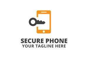 Secure Phone Logo Template