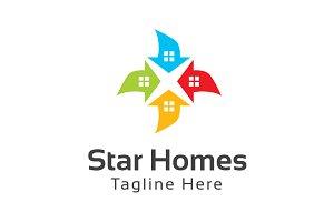 Star Homes Logo Template