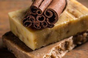 Cinnamon handmade soap