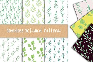 6 Hand Drawn Botanical Patterns
