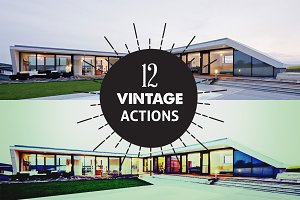 12 Vintage PhotoShop Actions