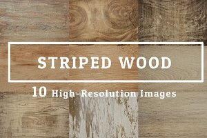 10 STRIPED WOOD