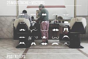 25 Moustache - Vectors