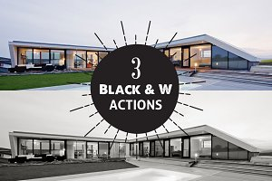 3 Black & White Photoshop Actions