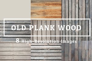 8 OLD PLANK WOOD