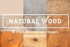 8 NATURAL WOOD