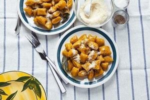 Italian dumplings. squash