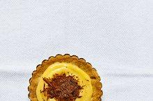 dessert tart with lemon curd
