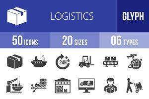 50 Logistics Glyph Icons