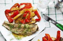 grilled fish with sweet and sour