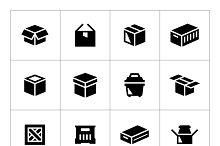 Set icons of box