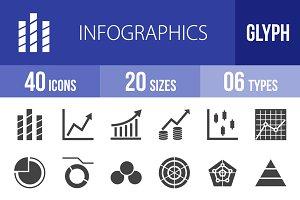 40 Infographics Glyph Icons