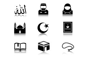 Set of Islam icons