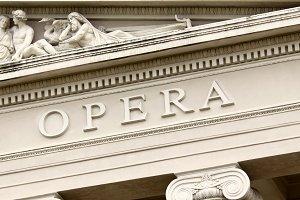 Opera house facade