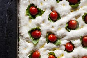 Italian focaccia dough