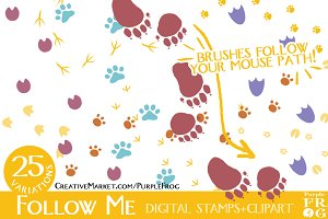 Follow Me - digital stamps / brushes
