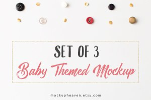 Baby Theme Styled Stock Mockups