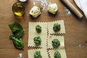 Freshly Made Homemade Ravioli