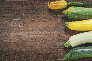 Fresh organic zucchini
