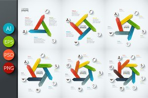 Infographics template set v.28