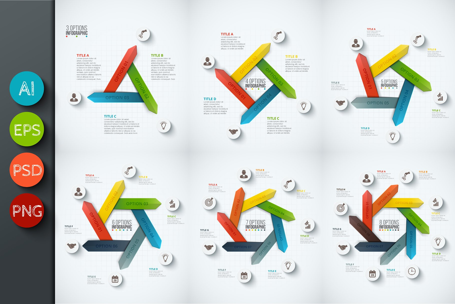 Infographics Template Set V28 Presentation Templates Creative