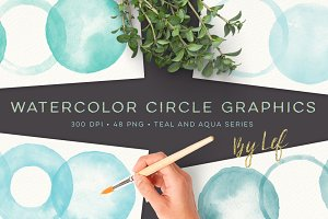Watercolor Circle Graphics